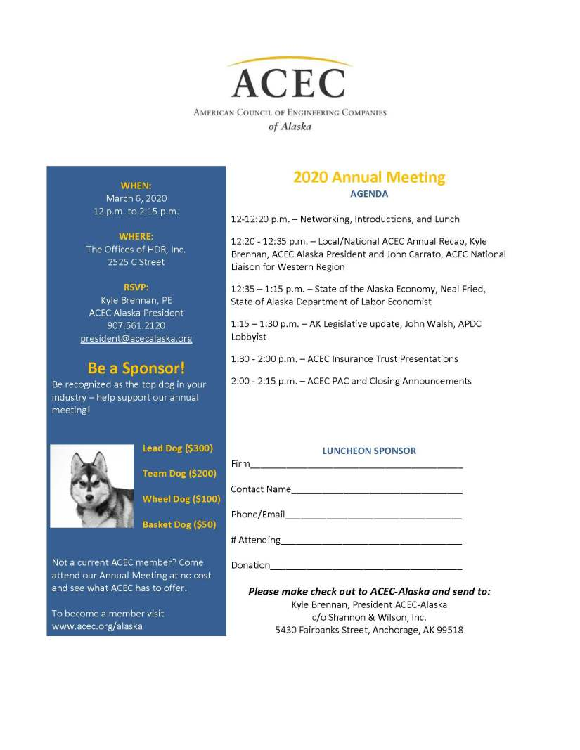 2020 Annual Meeting Flyer